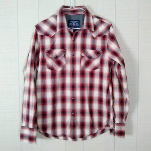 American Eagle Vintage Fit Snap Front Shirt Plaid